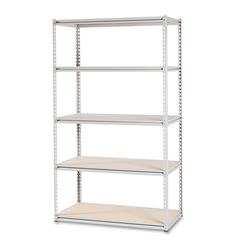 Tennsco Stur D Stor Shelving Five Shelf 48 Inch Wide X 24 Inch Deep X 84h Sand Shelves Steel Shelving Plastic Shelves