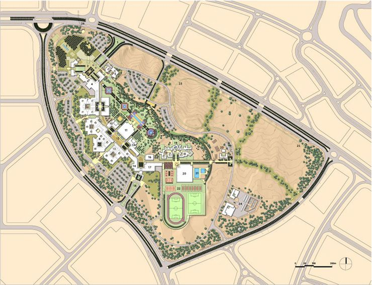 The American University In Cairo New Campus Sasaki N - American university map