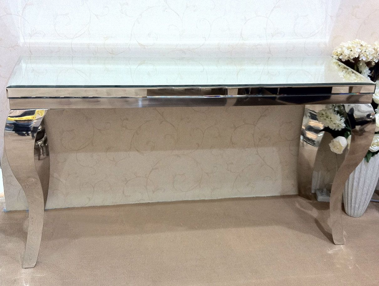 Chrome console table google search lux interior pinterest chrome console table google search geotapseo Gallery