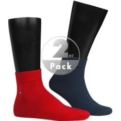 Tommy Hilfiger Herren Sneaker-Socken, Baumwolle, navy-rot blau Tommy Hilfiger