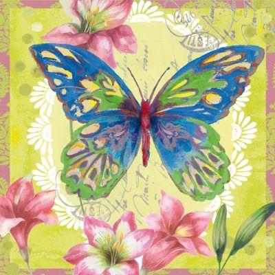 Servilletas / motivos florales - Servietten Wimmel