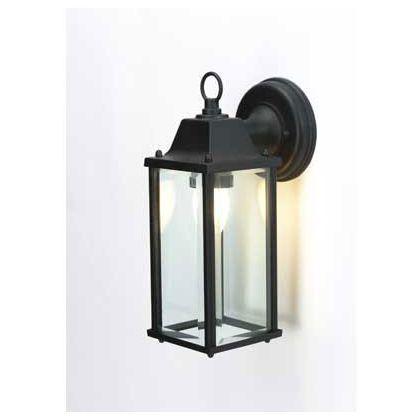 Bevelled Gl Outdoor Lantern Black 15cm At Homebase