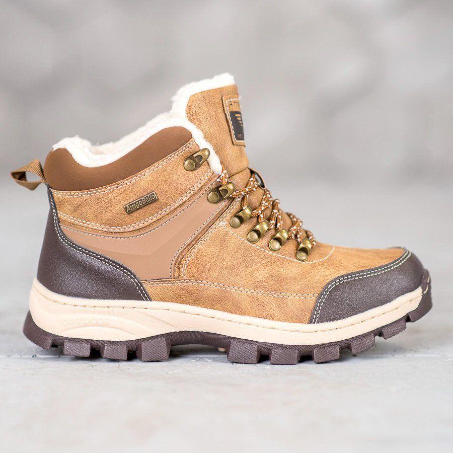 Arrigo Bello Sznurowane Buty Zimowe Brazowe Boots Winter Boots Boot Shoes Women
