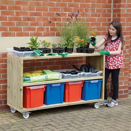 Outdoor Mobile Shelving Unit