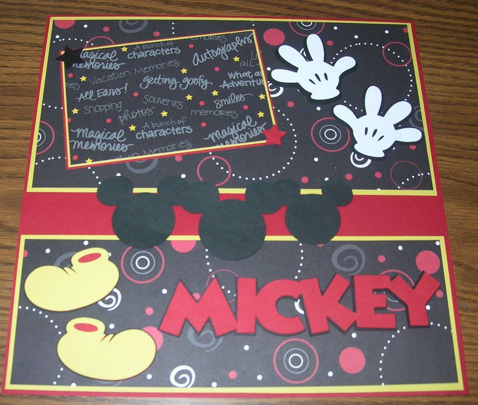 Scrapbook ideas using cricut - Disney Scrapbook Layouts Labels 12x12 Layouts Cricut Disney Hello Kitty