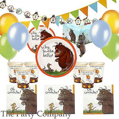The Gruffalo Party Deluxe Party Kit for 12 guests Plates, Cups, Napkins & More! in Home, Furniture & DIY, Celebrations & Occasions, Party Supplies | eBay