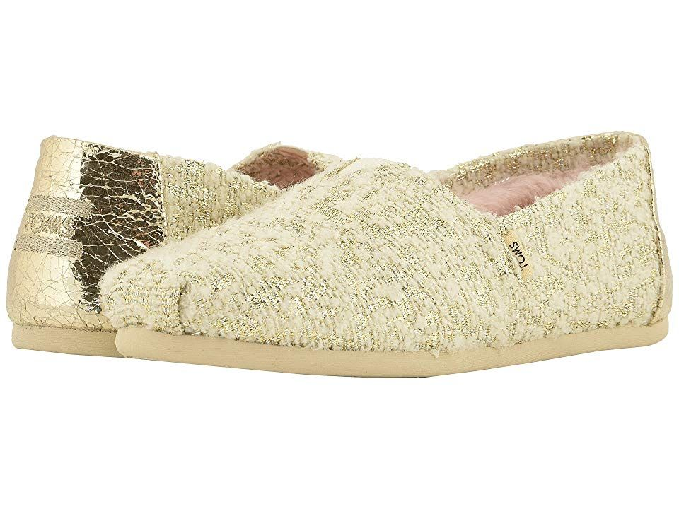 TOMS Alpargata White Holiday Slub Woven Vegan Womens Shoes With every pair of shoes you purchase TOMS will give a new pair of shoes to a child in need One for One The TOM...