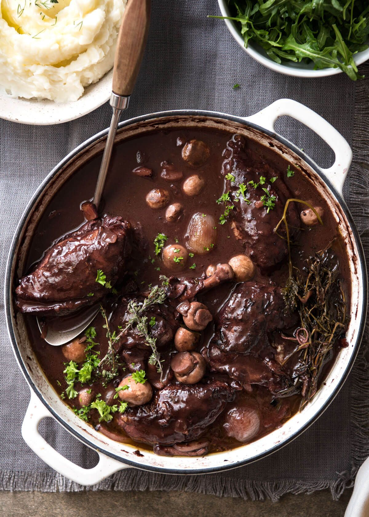 Coq au vin recipe coq au vin red wines and wine sauce a traditional coq au vin recipe with very tender chicken in a rich red wine forumfinder Gallery