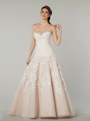 Danielle Caprese - Sweetheart Ball Gown in Lace | Spring Wedding ...
