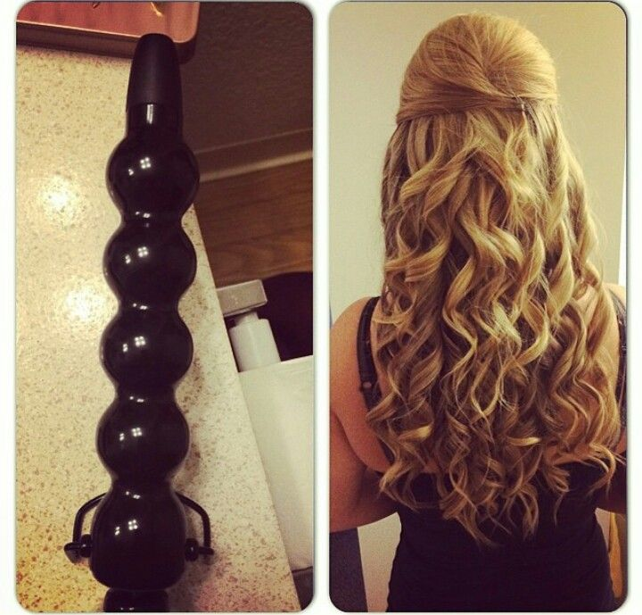 For Bubble Wand Curls Done By Sam Curls For Long Hair Curling Thick Hair Wand Curls