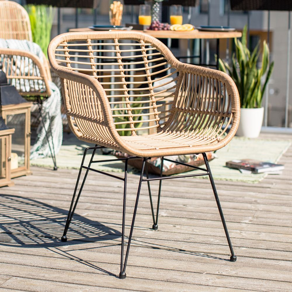 Risto Tool Metal Patio Chairs Garden Recliner Chairs Plastic