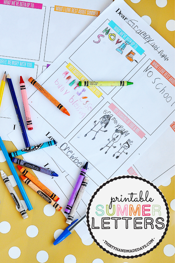 Kids Printable Summer Letter  Them Print  And Summer