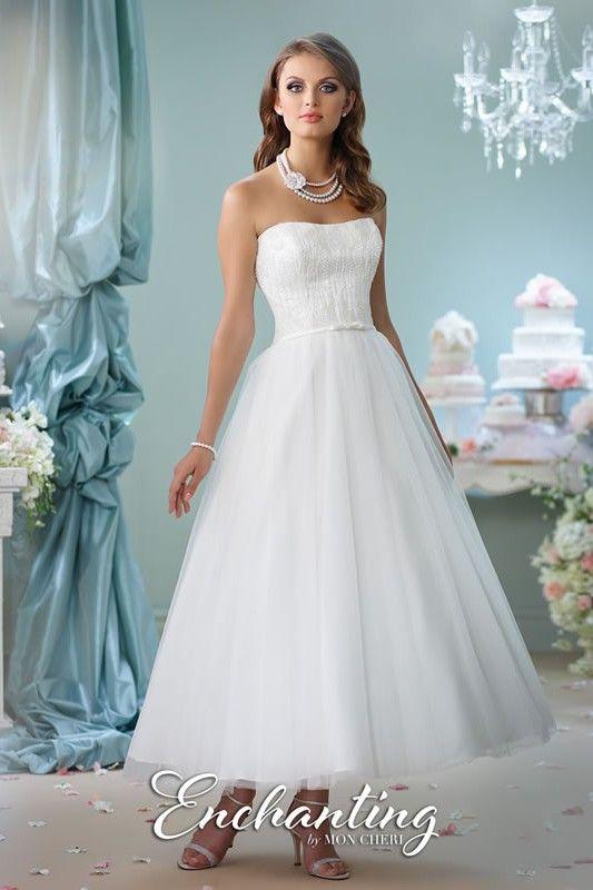 Enchanting by Mon Cheri | tea length wedding dress style 116141 | đồ ...