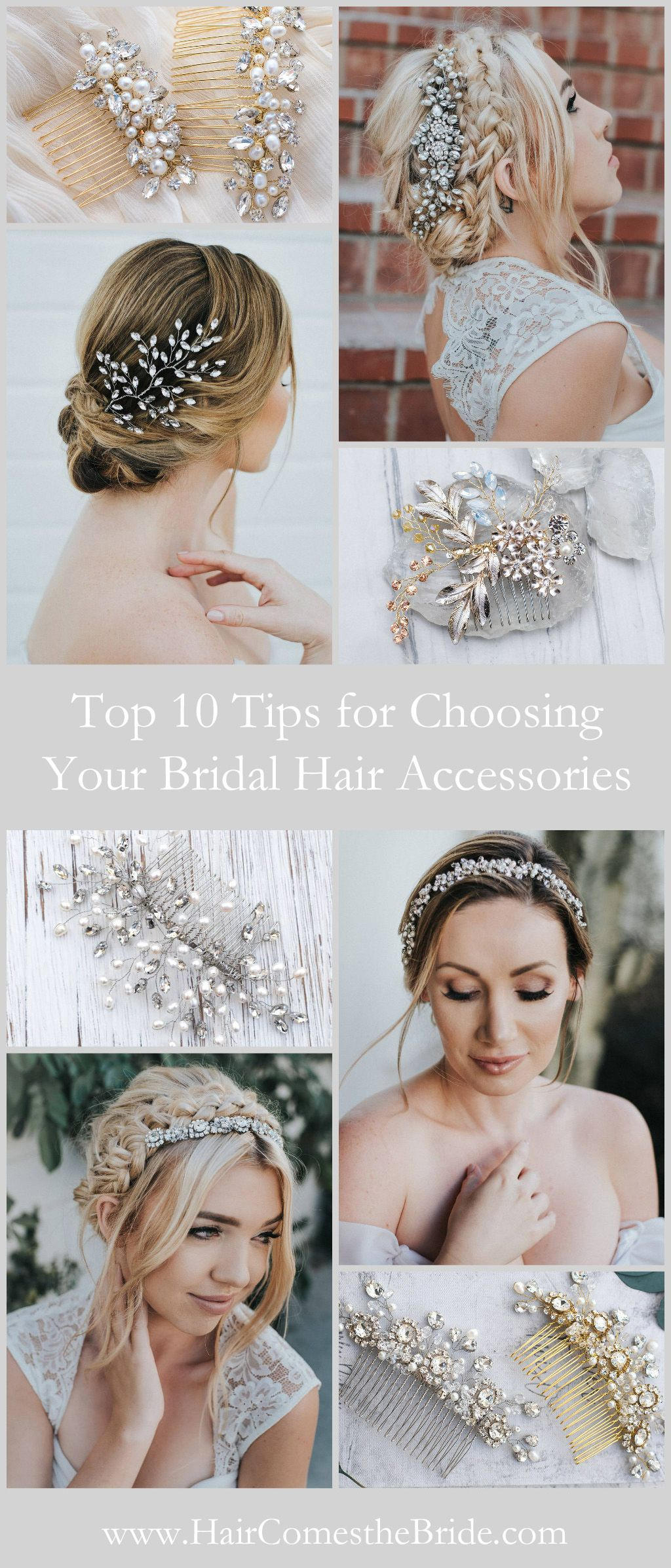 8 Tips For Choosing Your Bridal Hair Accessories Bridal Hair Bridal Hair Accessories Wedding Hair Side