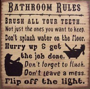 western bathroom decor western bathroom rules humerous primitive rustic country bath sign - Western Bathroom Decor