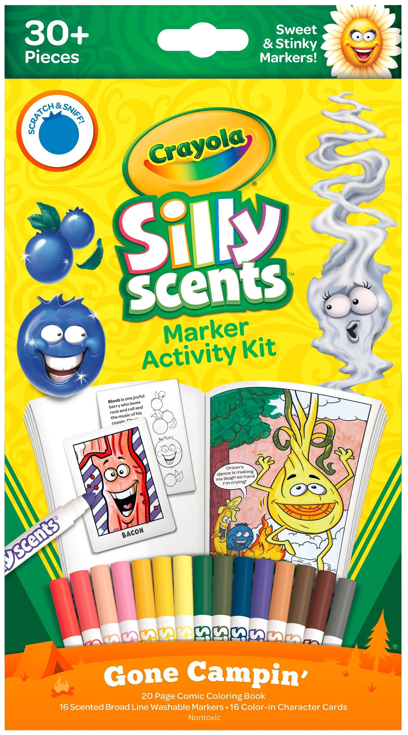 Crayola silly scents marker activity set gone campin