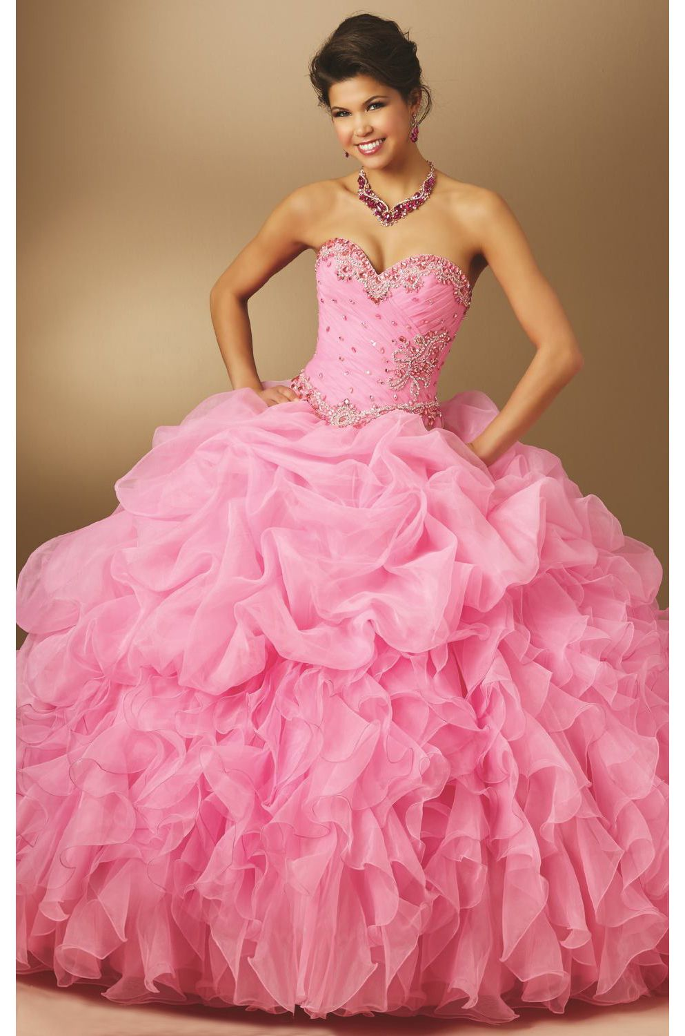 Jeweled Ruffled Organza Ballgown www.findress.com   Evening Gowns ...