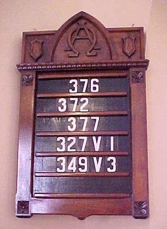 a2cd768194f4 Center Lutheran Church hymn board