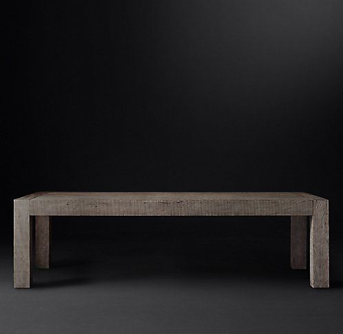 Monterey Collection Ash Reclaimed Peroba RH Modern Dining Room - Rh modern dining table