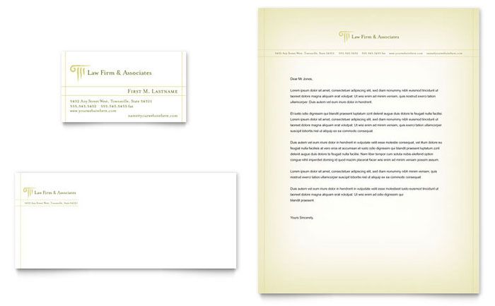 attorney amp legal services business card letterhead template - legal letterhead template