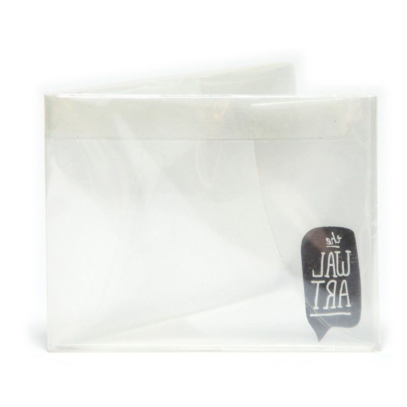 the clear bifold paper wallet new the walart mighty tyvek