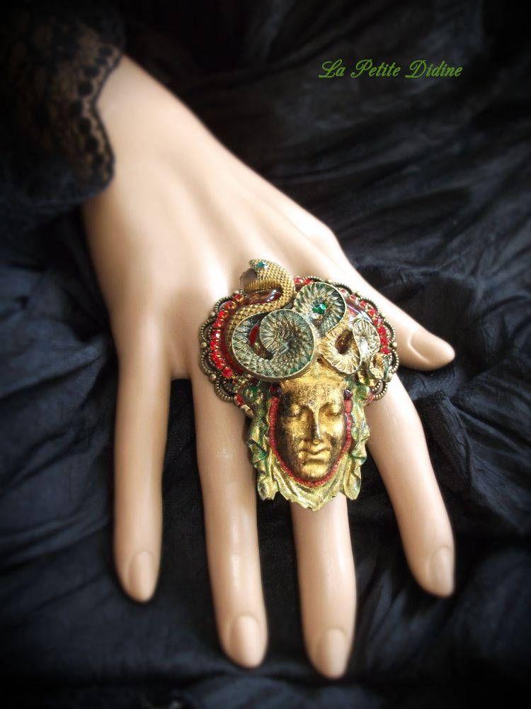 Ring, Snake Woman, Big Ring, Goddess Ring, Greek Goddess Medusa ...