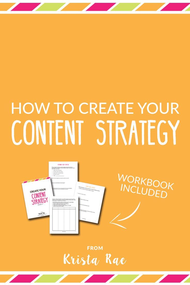 How To Create Your Content Strategy  Seo Business And Blogging