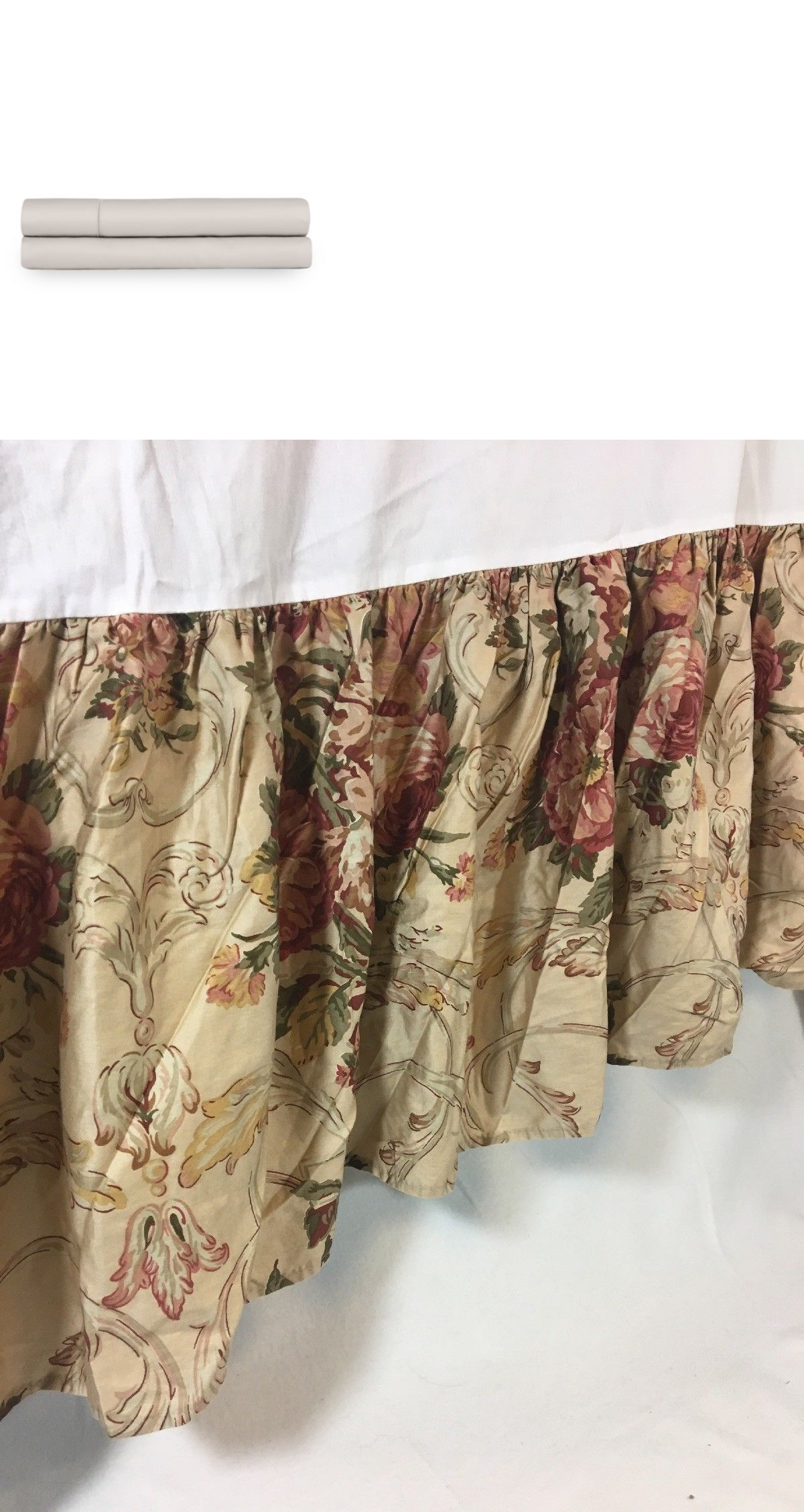 Bed Skirts 20450 Ralph Lauren Queen Bedskirt Tan Floral Roses Dust Ruffle Buy It Now Only 19 On Ebay Skirts Ralph Queen Bedskirt Dust Ruffle Bedskirt
