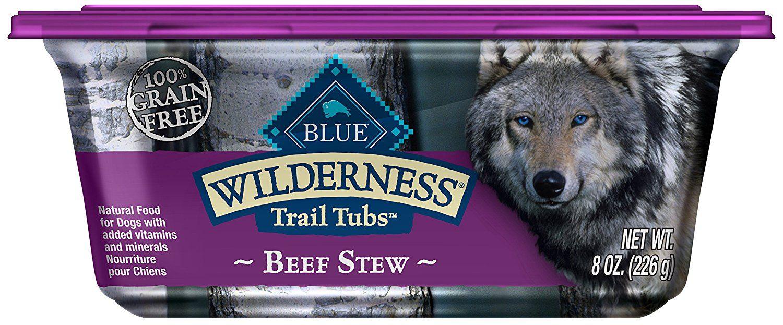Blue wilderness trail tubs stew high protein grain free