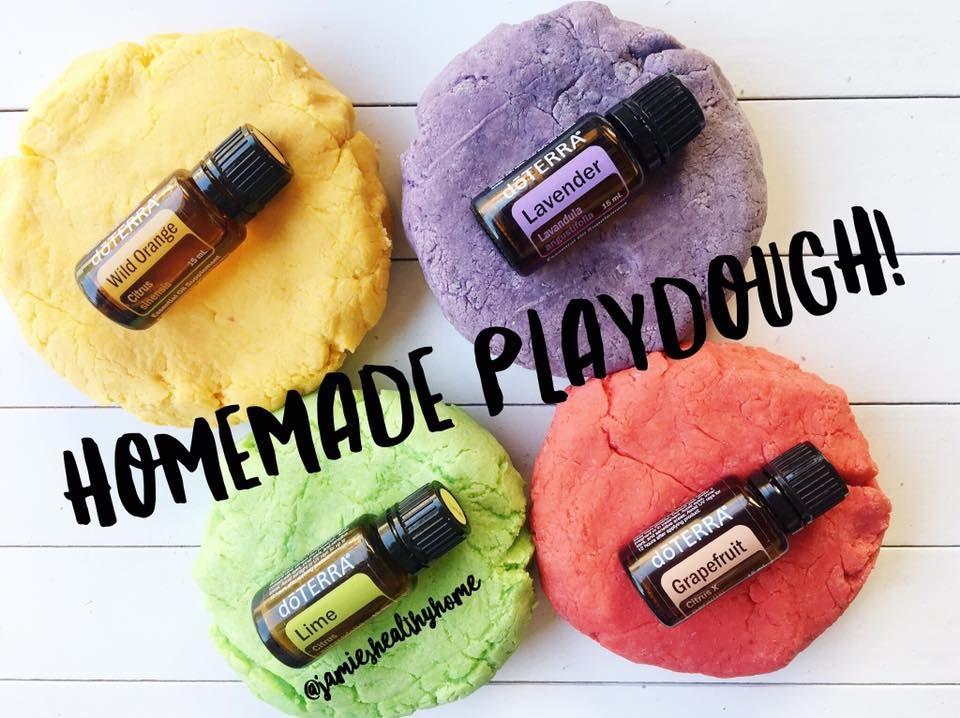 Homemade Playdough using essential oils! 1 cup flour 1/4