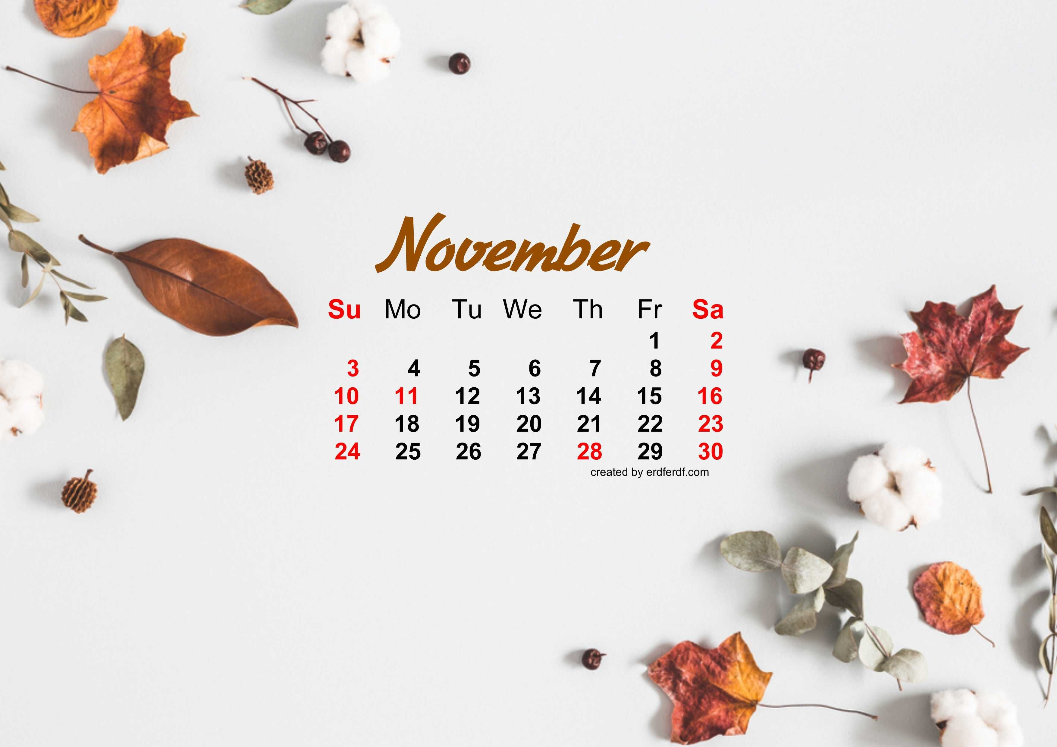 November 2019 Calendar Wallpaper Autum Calendar