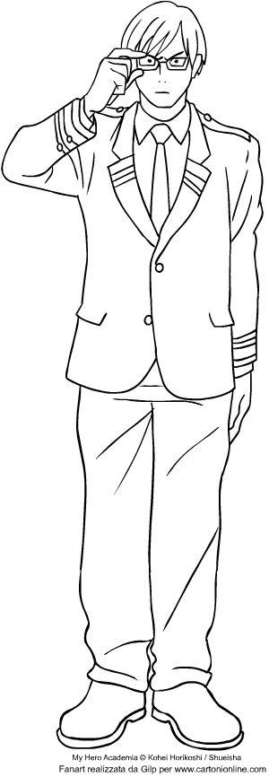 Izuku Midoriya From My Hero Academia Coloring Page In 2020 My Hero Academia My Hero Girls Characters