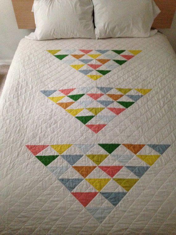Moderne Quilt-Muster: einfache geometrische Gestaltung--Kingsize ...