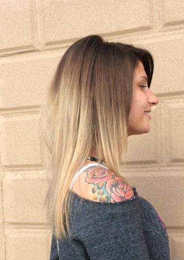 Ombre by Lisa Ricci @ THE CUT  www.luvthecut.com