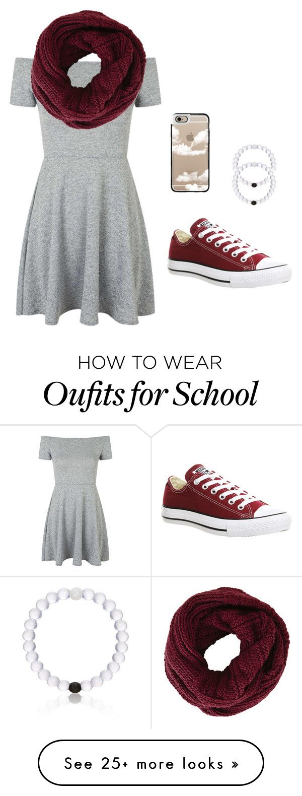 """""""School sucks"""" by aadrianamariee on Polyvore featuring Topshop, BCBGMAXAZRIA, Converse, Everest, Casetify, women's clothing, women, female, woman and misses"""
