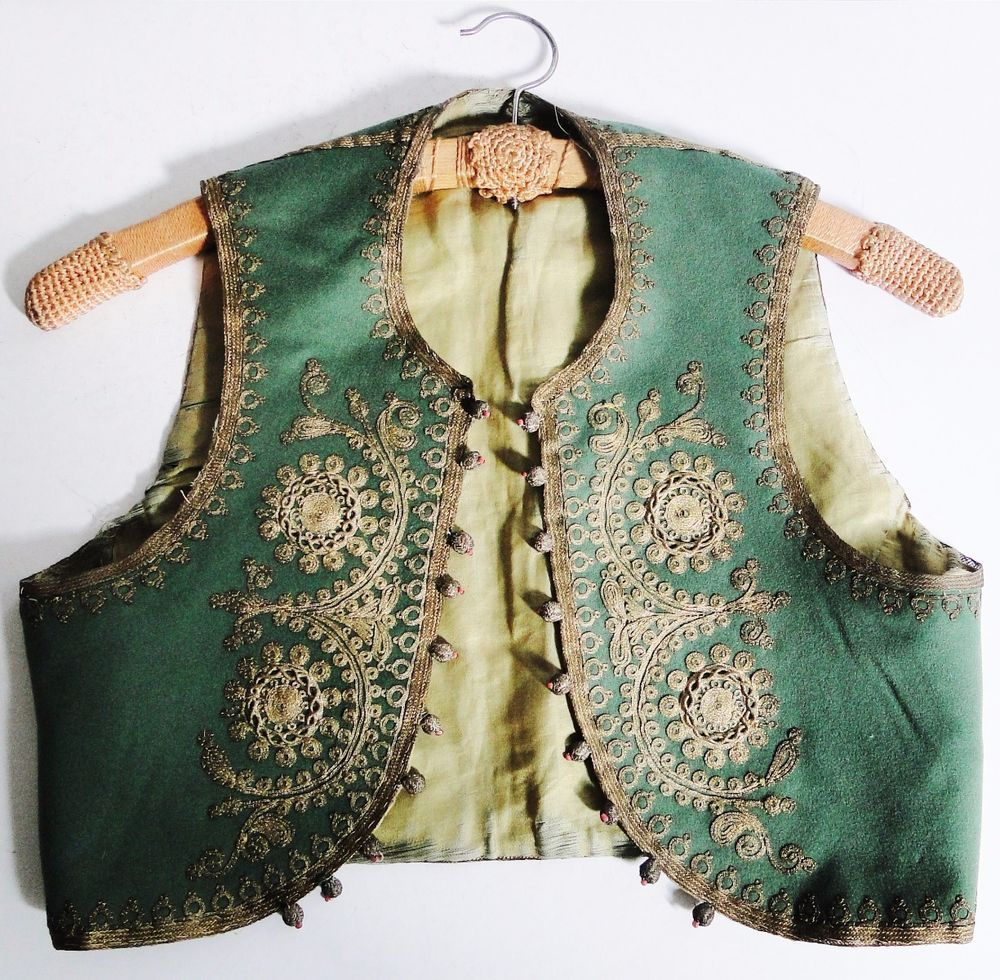 SUPER QUALITY OTTOMAN EMPIRE KID'S VEST YELEK GOLD EMBROIDERY BALKAN 1850