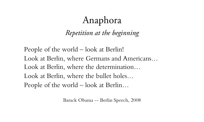 Rhetorical Device Anaphora