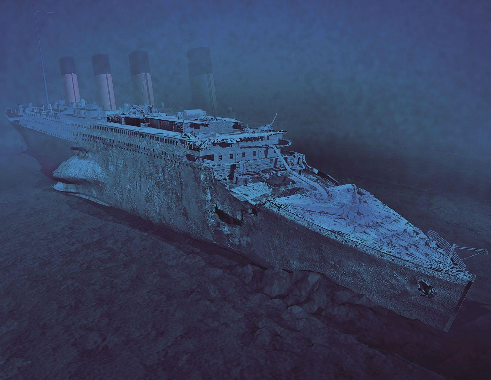 Titanic Under Water Titanic 3d Cg Digital Art Shipwreck Disaster