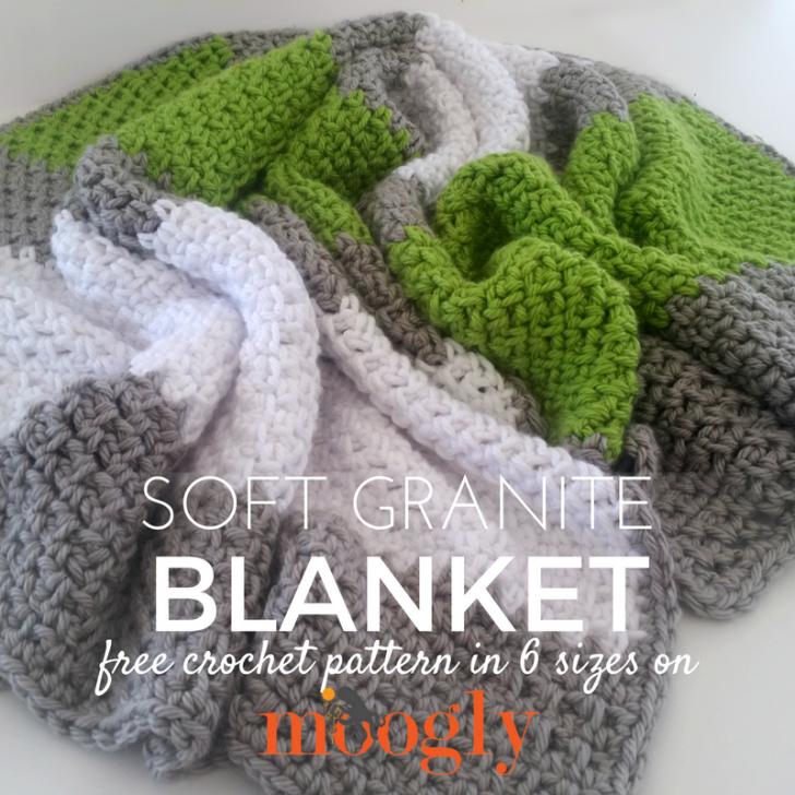 Soft Granite Blanket - free crochet pattern on Mooglyblog.com! Make ...