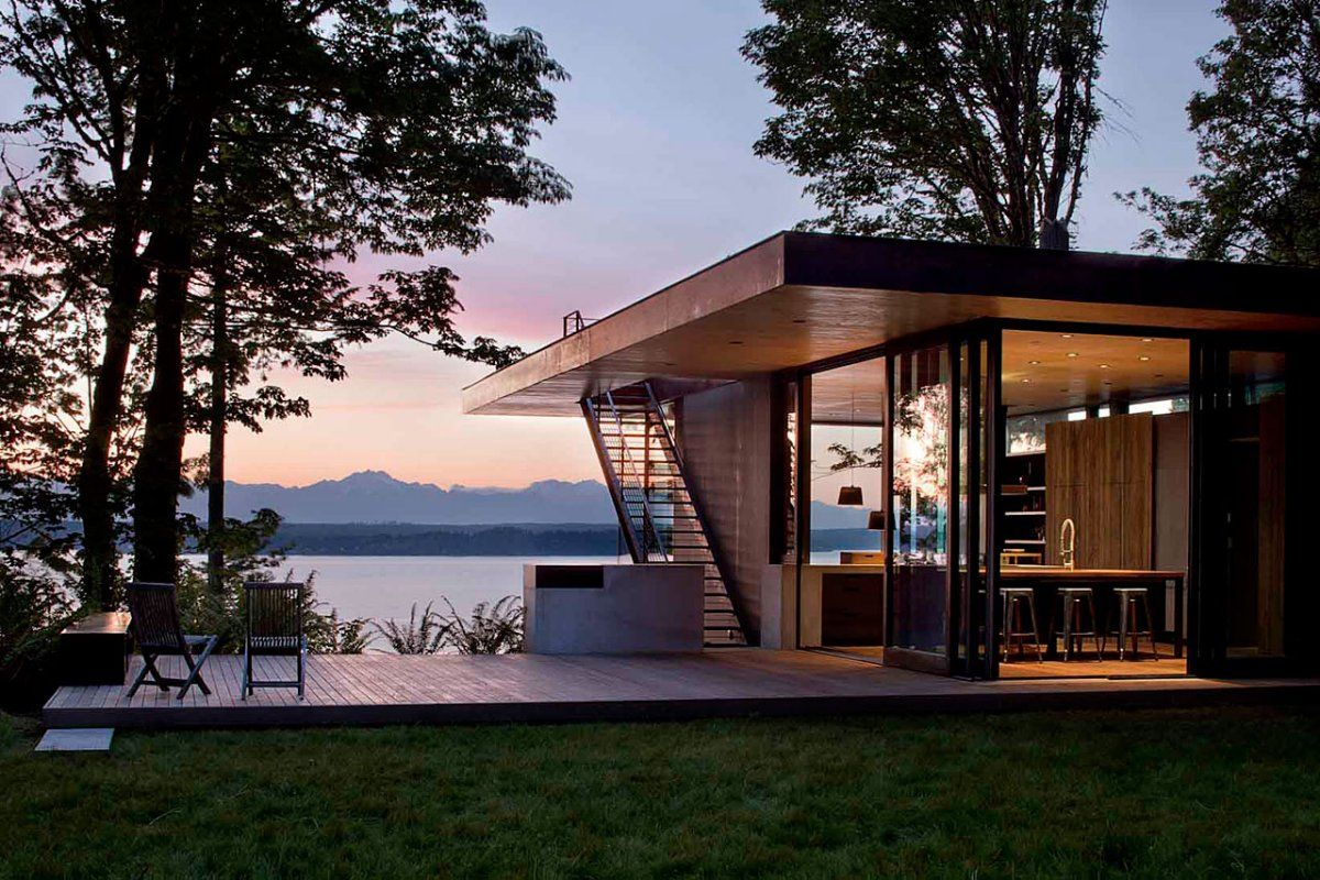 Case Inlet Retreat By Mw Works Architecture Design Love The Outdoor Staircase To Roof