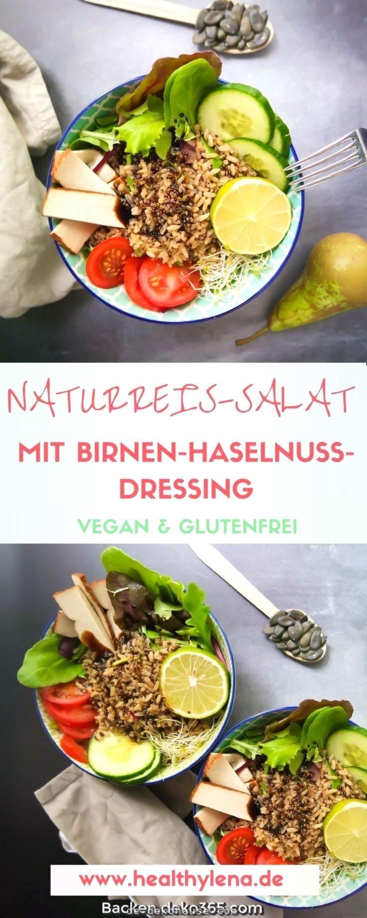 Einzigartige und Kreative Natur-Reis-Salat mit Walnuss-Birnen-vinaigrette  Za…