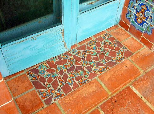 Mexican Tile Doormat Mosaic Tiles