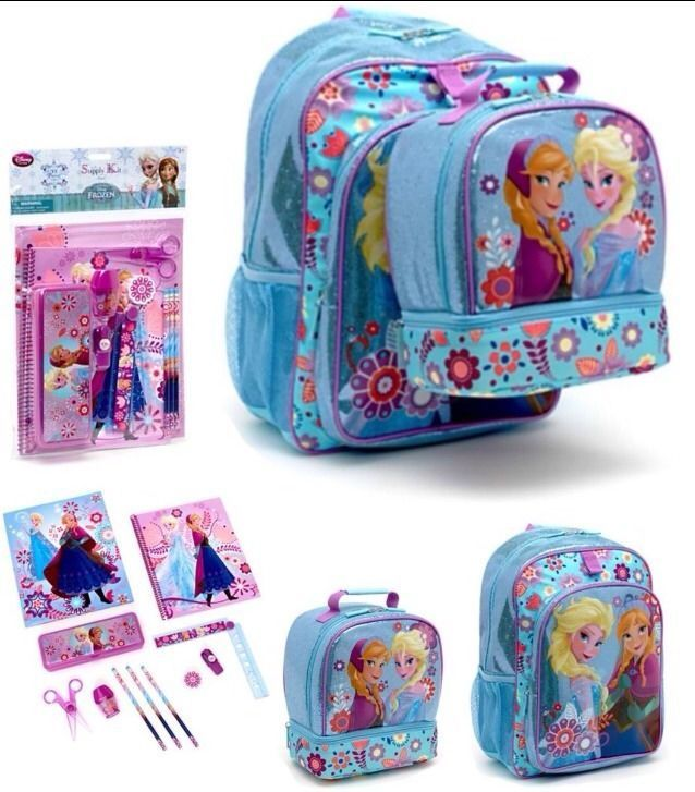"""Disney Frozen Olaf 12/"""" Small School Backpack Lunch Bag 2pc Set"""