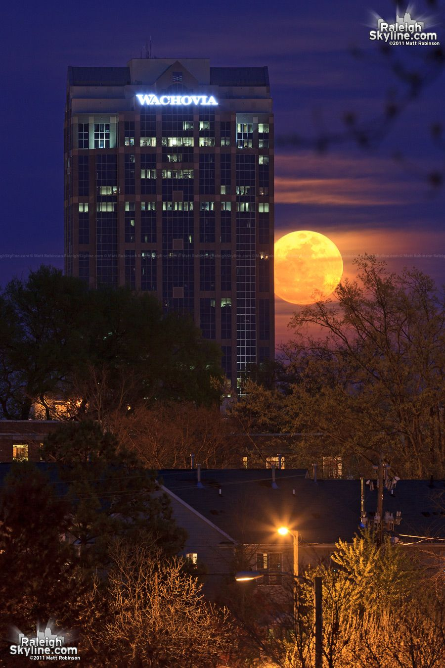supermoon in Raleigh