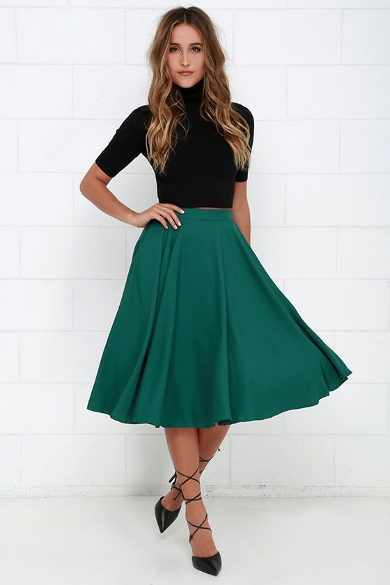 42dd74b19e Fine Swoon Dark Teal Midi Skirt | For The Wife- Signature Pieces ...