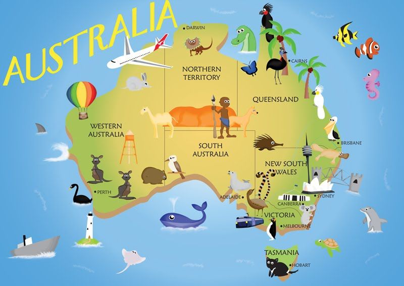 Map Of Australia Funny.Kids Australia Map By Pippy92 08 Kids Teens Young Adult