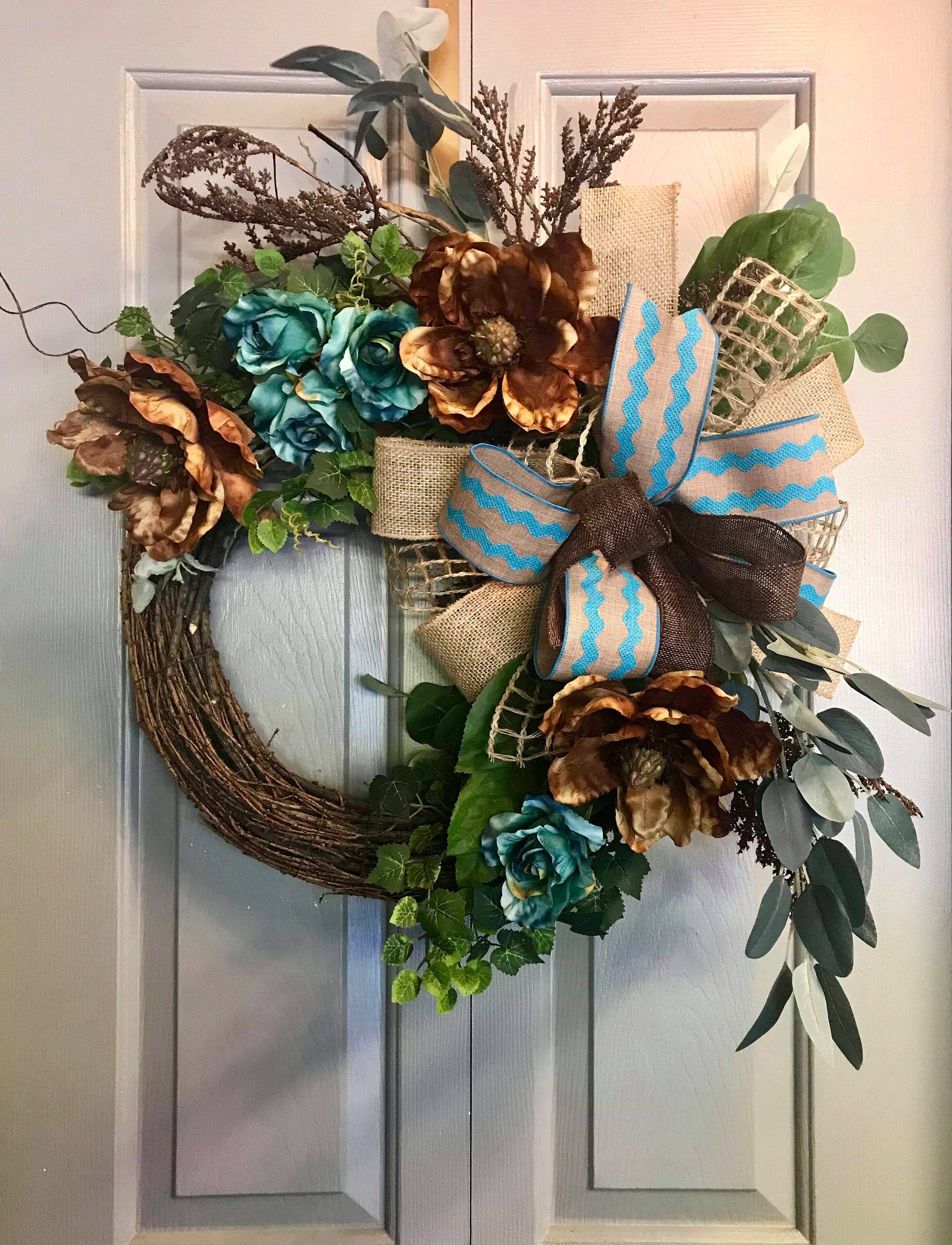 Rustic Grapevine Wreath Front Door Decor Everyday Wreath Everyday Wreath Grapevine Wreath Rustic Wreath