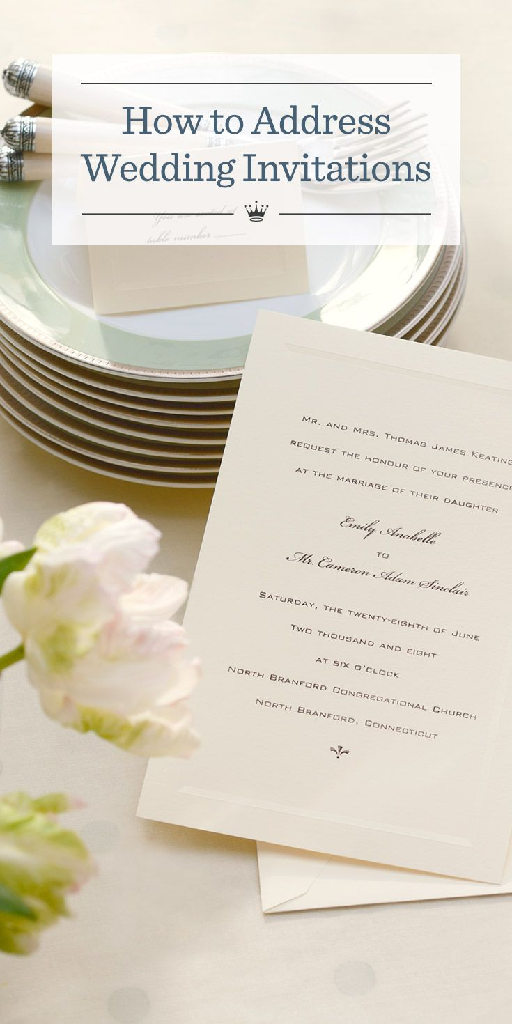 How To Address Your Wedding Invitations Addressing Wedding Invitations Hallmark Wedding Invitations Wedding Invitations