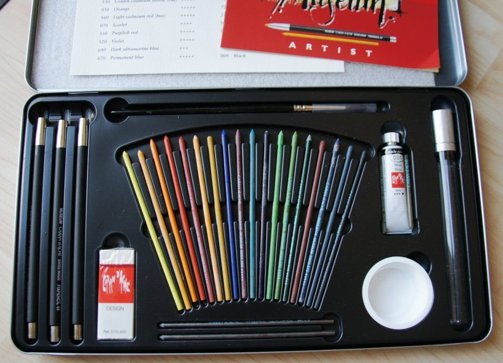 Amazon.com: Caran D'ache Museum 18 Watersoluble Lead Set: Office Products