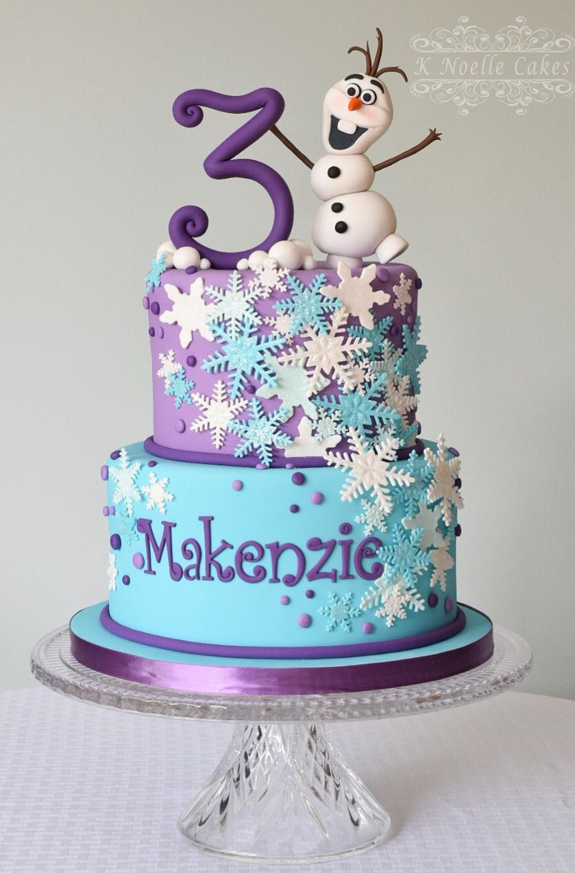 Frozen Theme Cake With Olaf By K Noelle Cakes In 2019